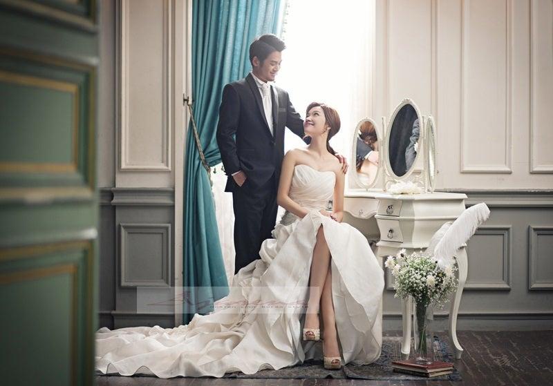 お客様のアルバム用完成写真 韓国ウェディングフォトはアジェリーナ おしゃれ花嫁は韓国ウェディングフォトで差をつける 韓国前撮りはアジェリーナ