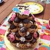 お庭で誕生日の画像