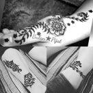 千葉 柏 ヘナタトゥー両足&手の親指 お花やツタイメージ ハーブでデトックス 浮腫み対策 下肢静の記事より