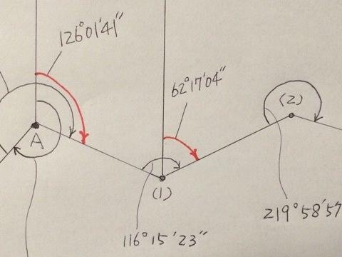 基準点測量、方向角の計算方法  ...