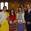 【英国王室】キャサリン妃 2016年4月ブータン訪問 Day5-2国王夫妻と(表情生き生き)の画像