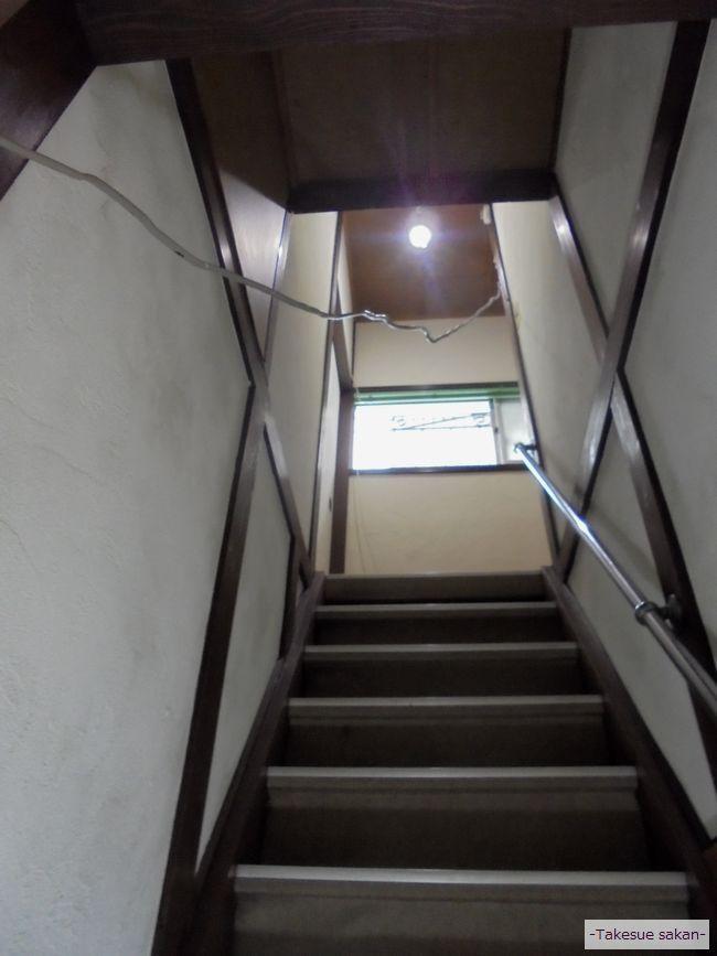 戸建て住宅 階段壁の珪藻土塗り