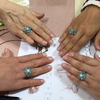 昨日は定期講座 天然石の指輪を作りました!の画像