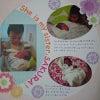 【今日のレイアウト】赤ちゃん誕生のページは特別な1ページにの画像