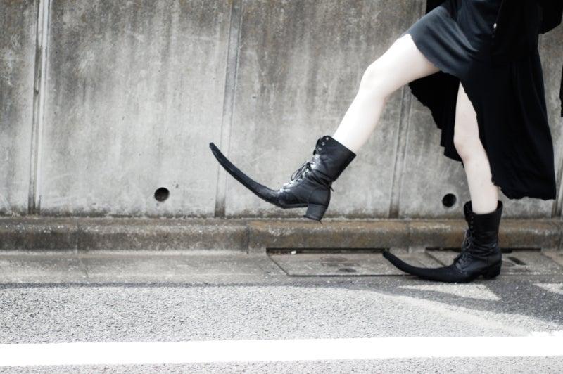 とんがり靴を作った。 / My pointy boots.