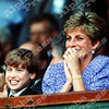 【英国王室】ダイアナ妃 ウィリアム王子と観戦の画像