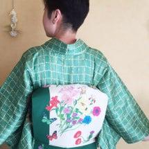 若竹色の着物スタイル