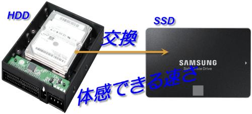 SSDへ交換