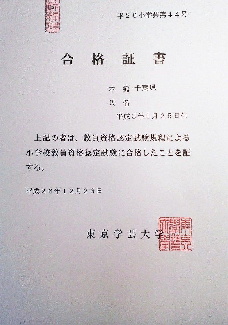 小学校 教員 資格 認定 試験