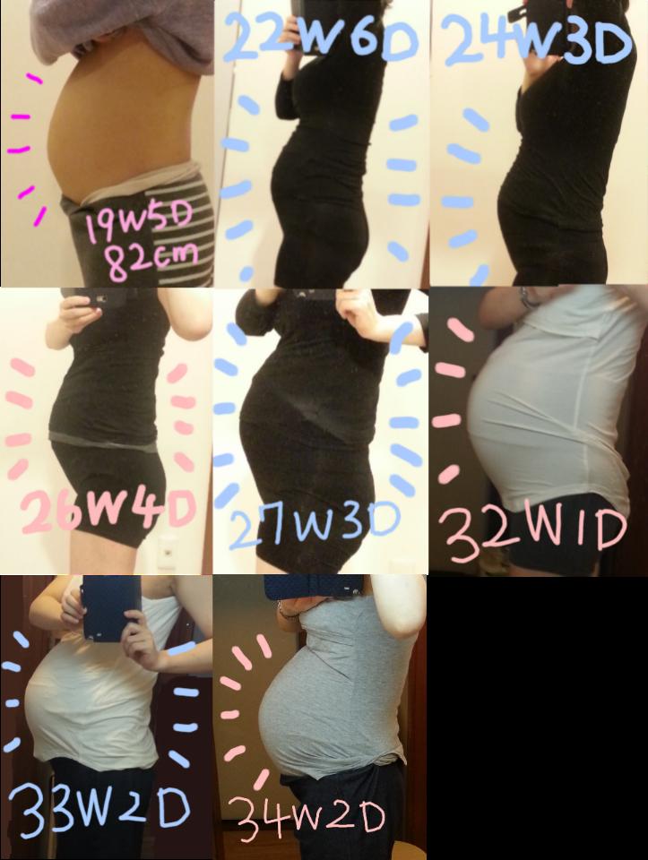 妊娠 お腹の膨らみ方