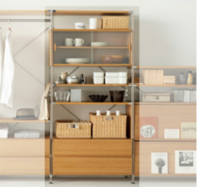 シンプルな無印良品の食器棚をおしゃれにかわいく使ってみましょう