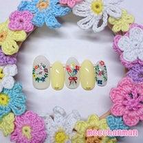 水彩絵の具で花束ネイルの記事に添付されている画像