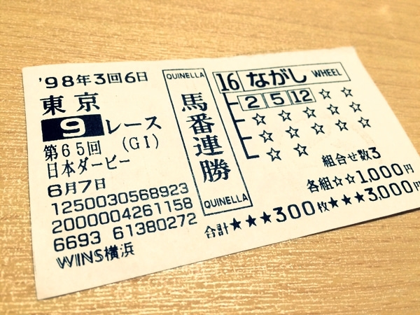 1998年 第65回 東京優駿(日本ダービー)   確定の赤ランプ ...