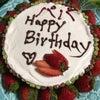 パパのお誕生日!ケーキは息子たちと共同作業♡の画像