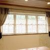 ≪施工事例≫三原市建築会社様のお打ち合わせルーム☆麻リネンを使ったオリジナル空間カーテンの画像