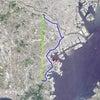 GPS地上絵22「ちょっくんその1・北上してみよう」(GPS drawing)の画像