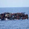 ▼唸声GIF映像/550名の乗った難民船が転覆した瞬間の画像