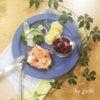 サーモンの塩レモンマリネオープントーストdeワンプレート朝食♡の画像