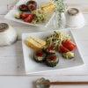 初夏だしね、ゴーヤバーグメインな朝食プレートで朝から野菜をたっぷりと♪の画像