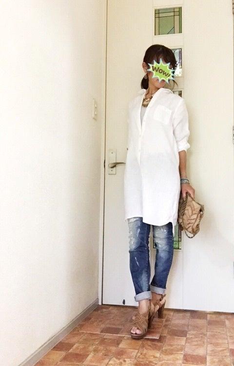 Ladies' Organic Cotton Washed Shirt Dress