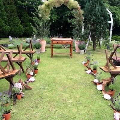 ガーデンウエディング 人前式とお水合わせの儀の記事に添付されている画像