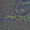 GPS地上絵24「ちょっくんその4・東を目指してみよう」(GPS drawing)の画像