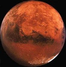 赤色の火星