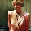 【英国王室】ダイアナ妃 オレンジ×ホワイト ポルカドットの画像
