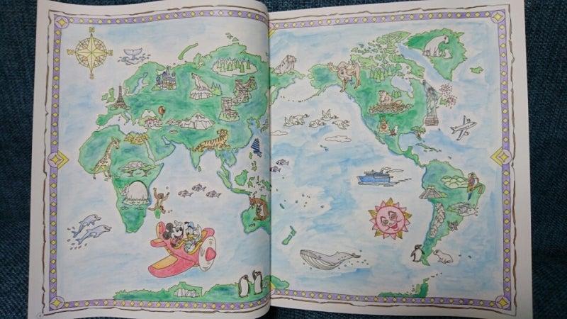 旅するディズニー 塗り絵 世界地図 Tomomiのブログ