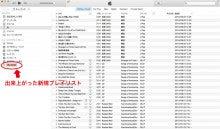 iTunes出来上がった新規プレイリスト