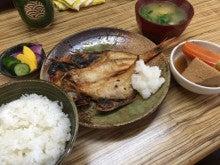 金目鯛の開き定食