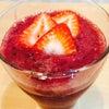 朝のスムージー!イチゴ&ブルーベリーの画像