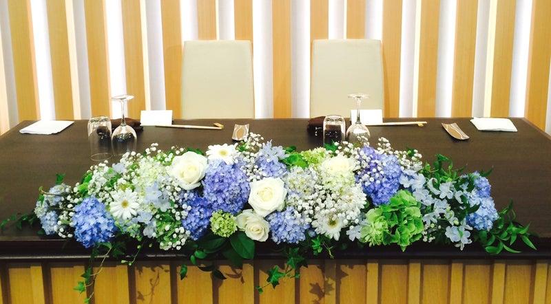 結婚式の会場装花~キレイ色紫陽花 ~