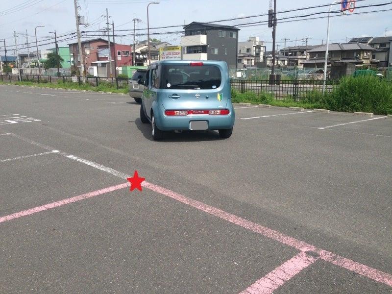 ミラーと目視で駐車