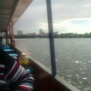 ドニプロ川をクルーズ♪の画像