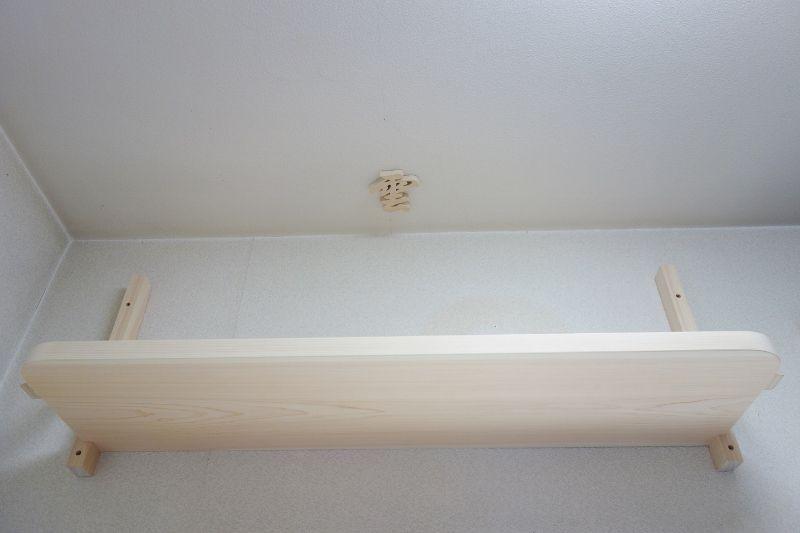 国産檜の一枚板で作る神棚板