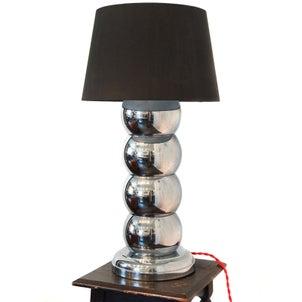 Stacked Chrome Ball Table Lamp テーブルランプ ミッドセンチュリーの画像