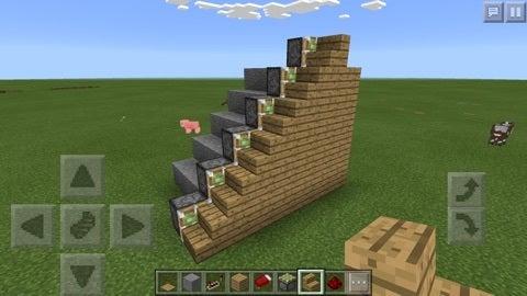 【マイクラPE】簡単な隠し階段の作り方 | 麦ちゃんの趣味日記