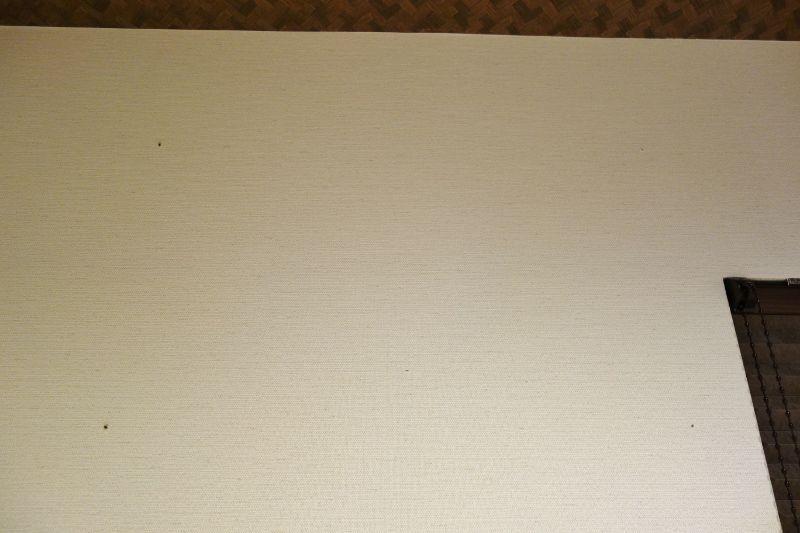 石膏ボード壁に下穴を開ける行程