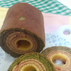 抹茶のバームクーヘンの画像