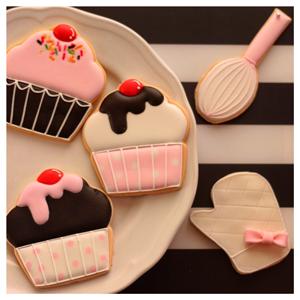 カップケーキアイシングクッキー