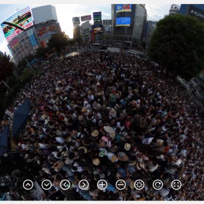 渋谷駅前がびっしりの選挙フェス|360°動かせるパノラマの記事に添付されている画像