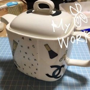 my work♡CHANELのティーポット♡の画像