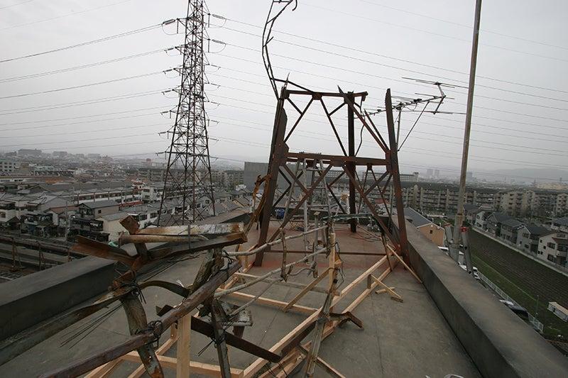 2007年 3月 クローズZERO高槻南高校(すでに廃校) 屋上で大落書き大会 PARTⅢ