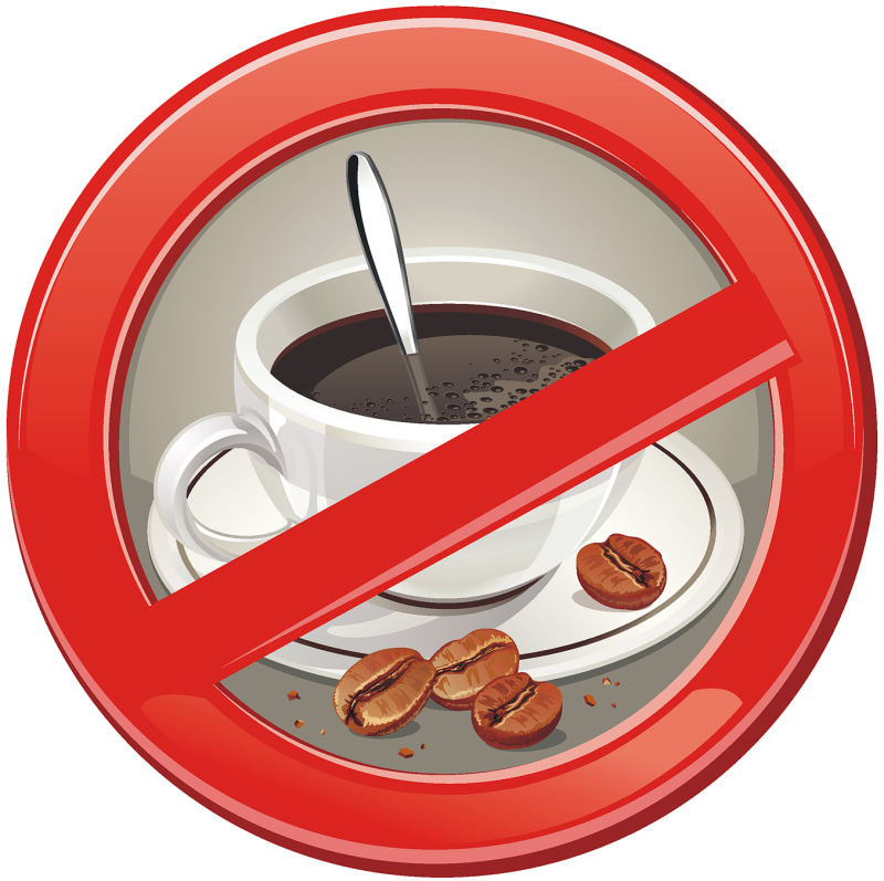 Avoid caffeine in the treatment of Graves' disease (hyperthyroidism)