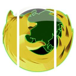 Firefoxのアイコンを 既存のやつを元にして黄色系の色違いを作ってみた knのブログ
