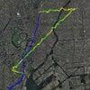 GPS地上絵26「ちょっくんその6・タワーからツリーを目指してみよう」(GPS drawing)の画像