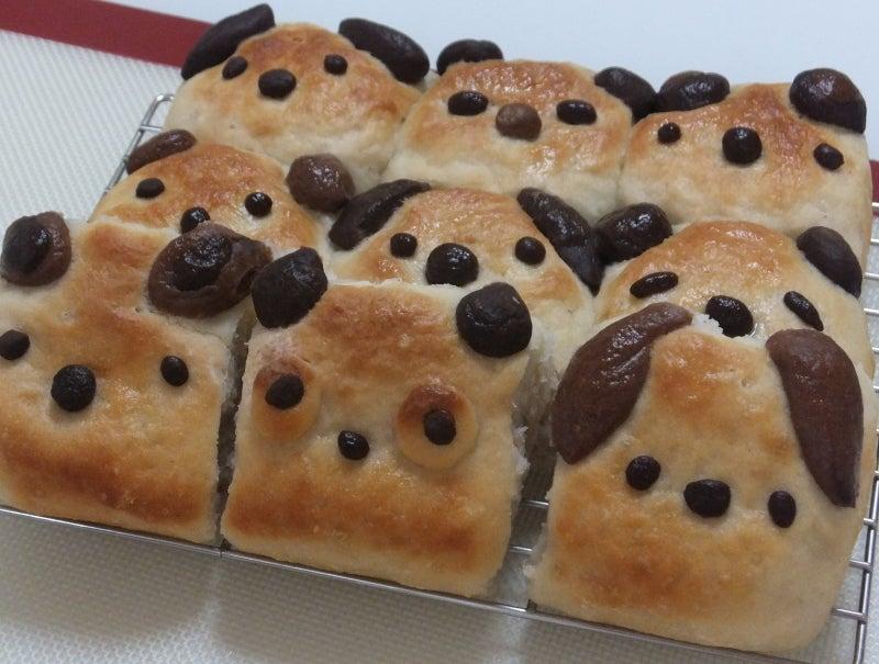 速報グルテンフリー手成形動物ちぎりパンが焼き上がりました
