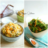 簡単【副菜2品】さっぱりコクーミーポテサラ  と  春菊とメンマのごま塩サラダの画像