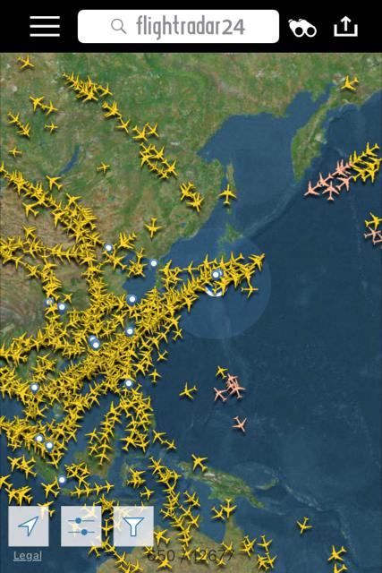 フライトレーダー(Flight Radar)...